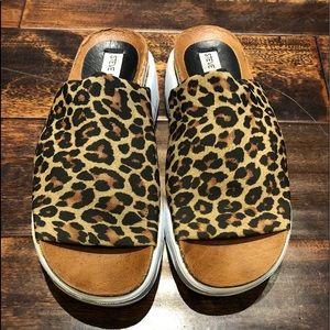 Steve Madden Daffne Leopard Sandals Size 7